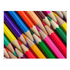 colour pencils crayons background texture postcard