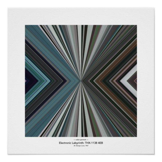 Colour Portrait: THX-1138 4EB Poster