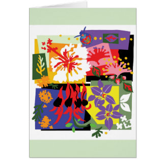 Colour Riot - Floral greeting card