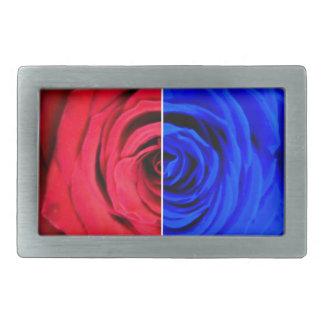 Colour Rose Rectangular Belt Buckles