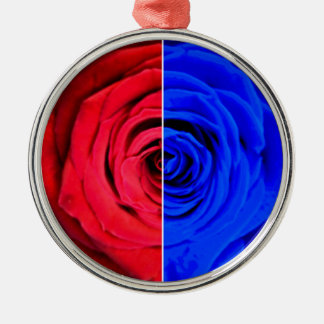 Colour Rose Silver-Colored Round Decoration