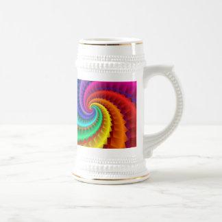 Colour Spiral Beer Steins