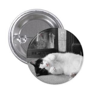 Colour Splash Cat 3 Cm Round Badge