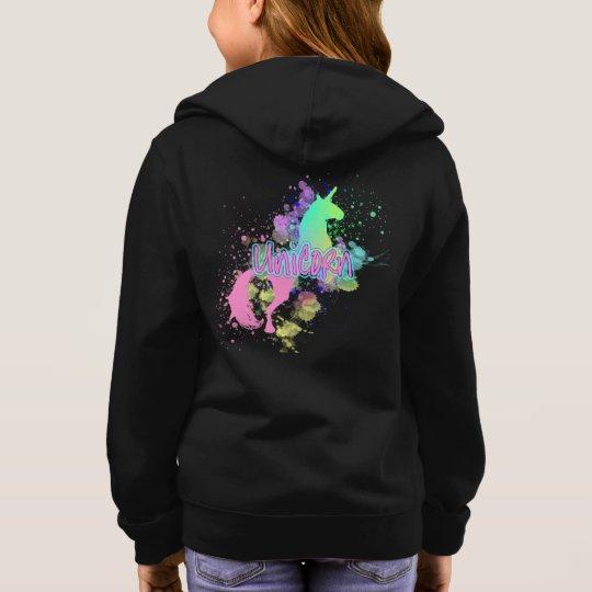 Colour Splash Fantasy Rainbow Unicorn Hoodie