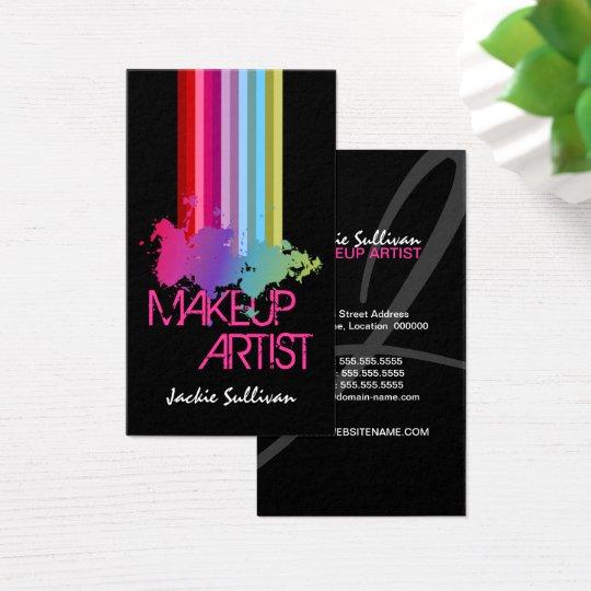 Colour Splash Makeup Artist Business Cards