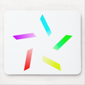 Colour Spoke Star Mouse Pad