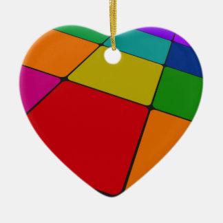Colour Squares Christmas Ornaments