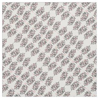 Colour sticks black & pinks on white B/G fabric
