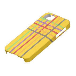 Colour stripe & check pattern ~editable background barely there iPhone 5 case