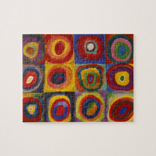 Colour Study of Squares Circles by Kandinsky Jigsaw