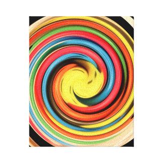 Colour Swirl Canvas Print