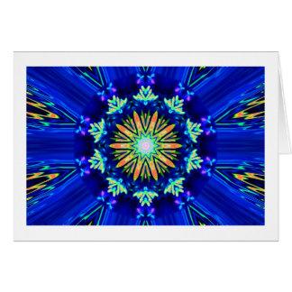 Colour Swirl Image Greeting Card