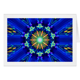 Colour Swirl Image Greeting Card