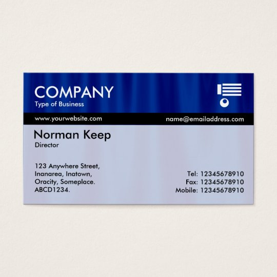 Colour Tex Banded - Midnight Curtains Business Card
