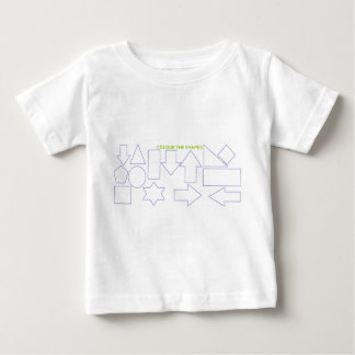 'Colour The Shapes' Baby T-Shirt
