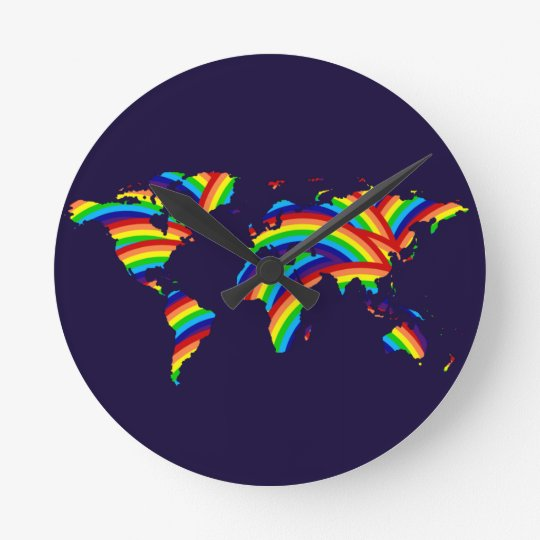 colour the world ~ maps round clock