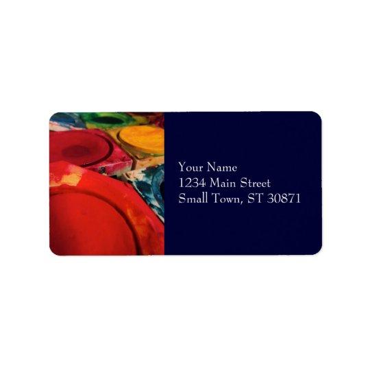 Colour Tusche Indian Ink Paint Boxes Watercolor Address Label