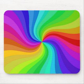 colour twisted mouse mat