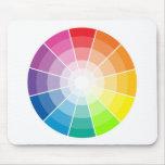 Colour wheel light mouse pad