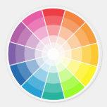 Colour wheel light round sticker