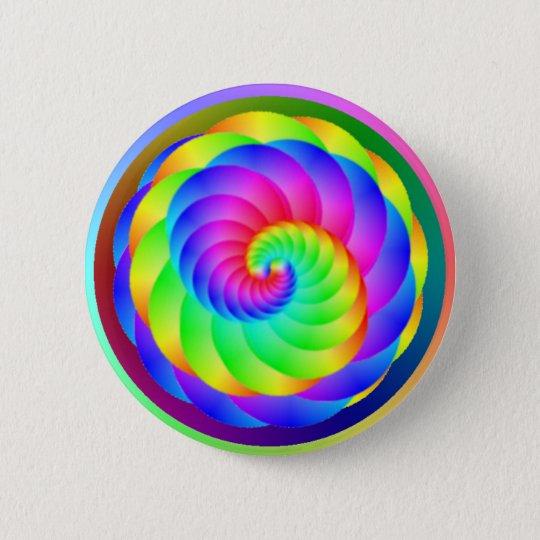 Colour Wheel Spiral Button