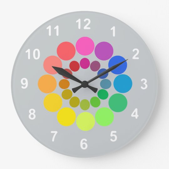 Colour Wheelwith your background colour. Large Clock