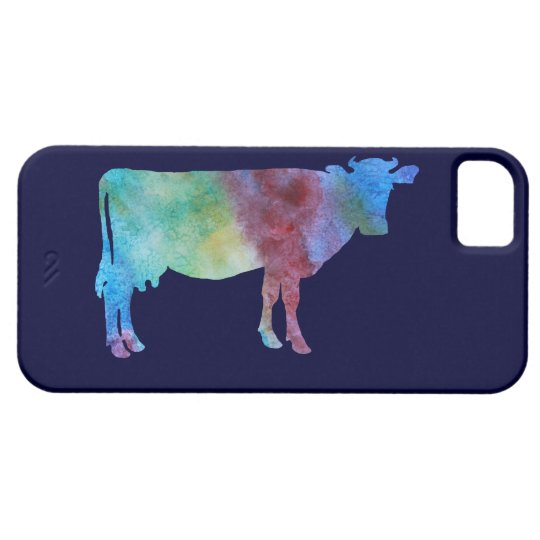 Colour-wsahed Cow iPhone 5 Case