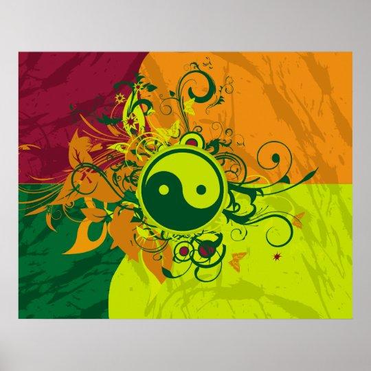 Colour Yin Yang Poster