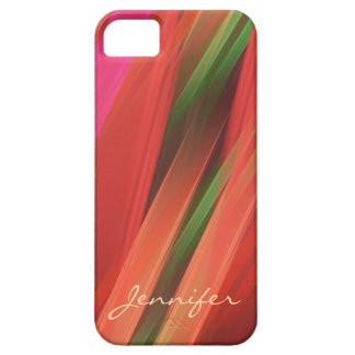 Colour your life, Fractal Abstract & Custom Name Case For The iPhone 5