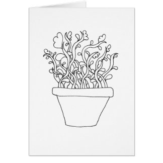 Colour Your Own Card - Potted Plant