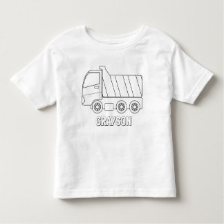 Colour Your Own Dump Truck Personalised Shirt