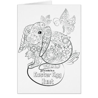 Colour your own easter egg invite