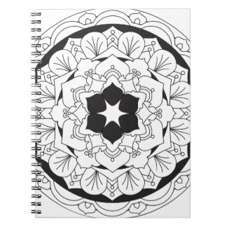 Colour-Your-Own Floral Mandala 060517_4 Notebook