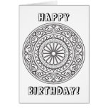 Colour Your Own Mandala with Custom Text Greeting Card