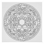Colour Yourself Mandala Poster Squirrel Poster