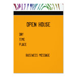 Colour Zebra Patterns 13 Cm X 18 Cm Invitation Card