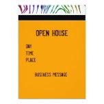 Colour Zebra Patterns 13cm X 18cm Invitation Card
