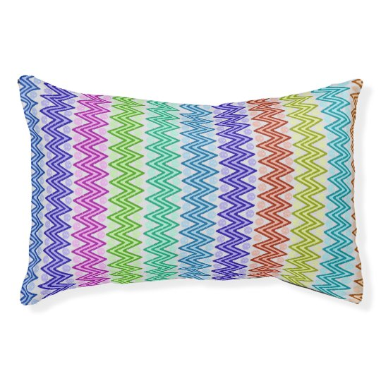 Coloured Aztec Inspired Designed Pet Bed