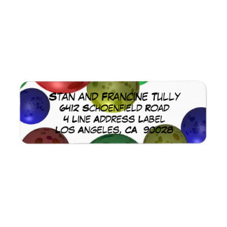 Coloured Balls Abstract 3D Return Address Label
