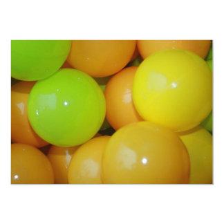 Coloured Balls Invitation