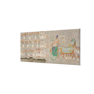 Coloured base reliefs from the south gallery of th canvas print