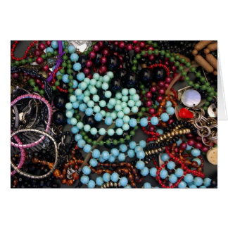 Coloured beads greeting card