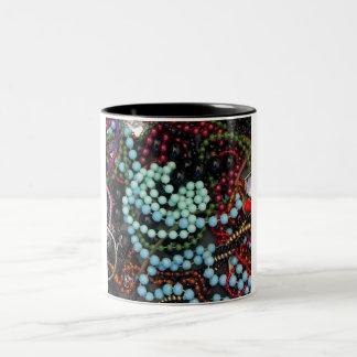Coloured beads coffee mugs