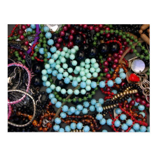 Coloured beads postcard
