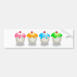 Coloured Buns Bumper Sticker