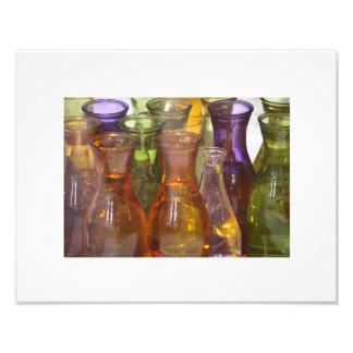 Coloured carafes photo