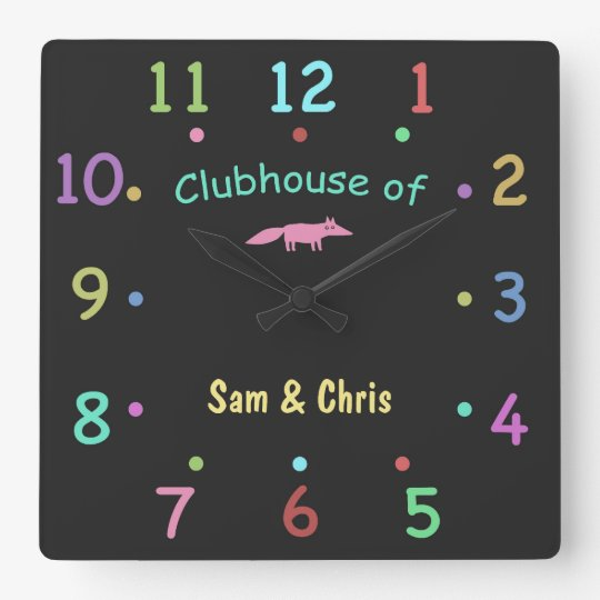 Coloured Chalk Custom Clubhouse Clock