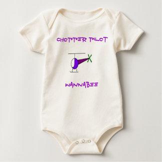 COLOURED CHOPPER, CHOPPER PILOT, WANNABEE BABY BODYSUIT