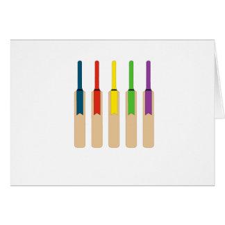 Coloured Cricket Bats Card