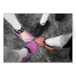 Coloured Crocs & Soft Shoes Card
